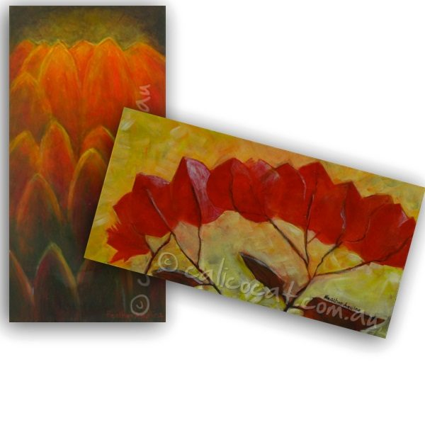 Photo of two floral greeting cards