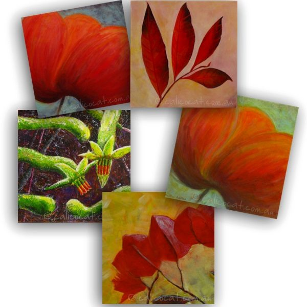 Photo of 5 flower cards