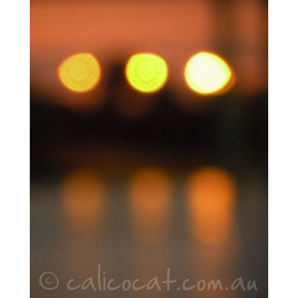 Abstract photo of ligts reflecting on water